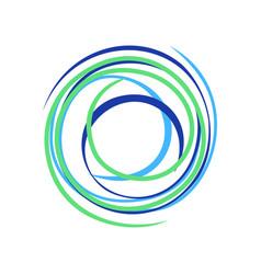Abstract zen circle wave bond symbol logo design vector