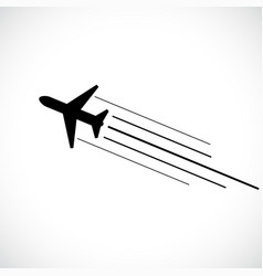 Aeroplane icon isolated on white background vector