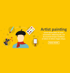artist painting banner horizontal concept vector image