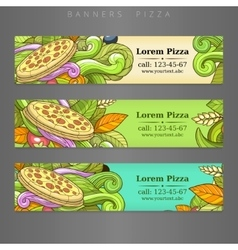 Banner advertisement pizza design vector