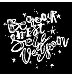 Be yourself poster vector