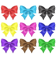 Bows with polka dot vector