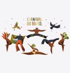 brazil carnival costume dancer character banner vector image