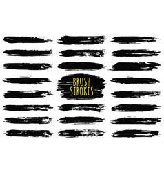 Brush strokes collection hand drawn strokes vector