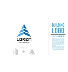 Building arrow logo vector image