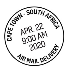 Cape town postage stamp vector