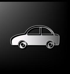 Car sign gray 3d printed vector