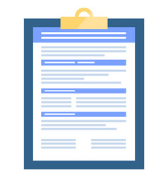 clipboard with information on document vector image