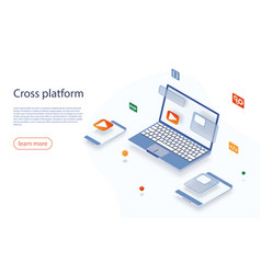 cross platform development website multi-platform vector image