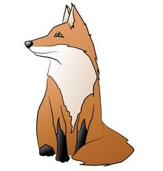 cute little sitting fox vector image