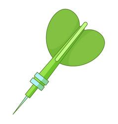 Darts arrow icon cartoon style vector