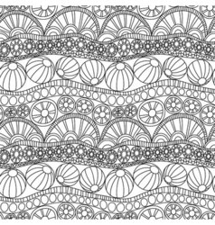 Doodle abstract seamless ornament Coloring page vector