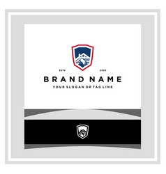 Eagle home america shield logo design concept vector
