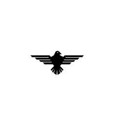 eagle open wings flying for logo design vector image
