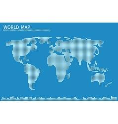 earth globe world map dots vector image
