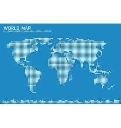 Earth globe world map of dots vector image