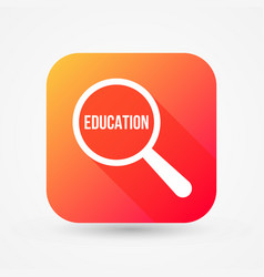 education word magnifying glass vector image