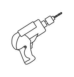 electric drill carpentry tool vector image