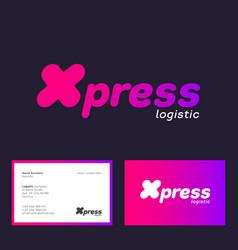Express logistic logo emblem logistic company vector