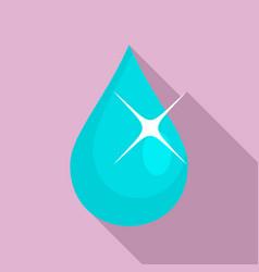 Eye drop oil icon flat style vector