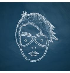 Face girl icon vector