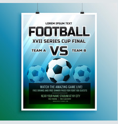 football game event tournament invitation design vector image