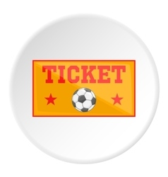 Football ticket icon cartoon style vector image