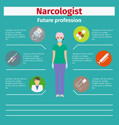 future profession narcologist infographic vector image