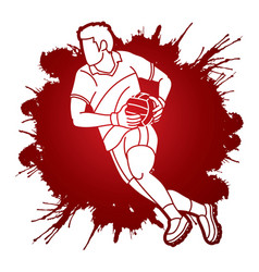 gaelic football man player cartoon sport vector image