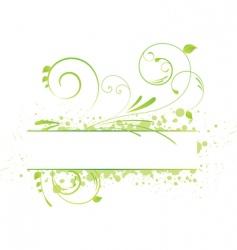 grunge floral banner vector image vector image