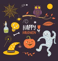 Halloween design elements collection vector