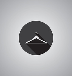 Hanger symbol flat vector