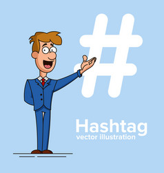 hashtag concept promotion of social networks vector image