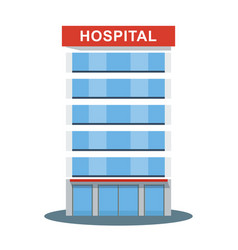 hospital high building icon vector image