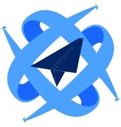 Icon of civil aviation vector