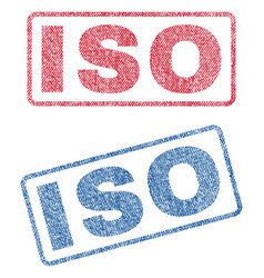 Iso textile stamps vector