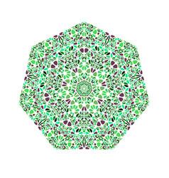Isolated ornate geometrical flower heptagon vector