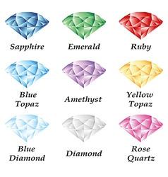 Jewelry set volume vector image