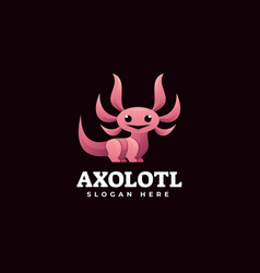 Logo axolotl gradient colorful style vector