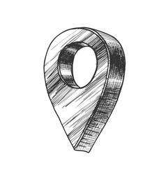 Map pointer gps location modern symbol vector
