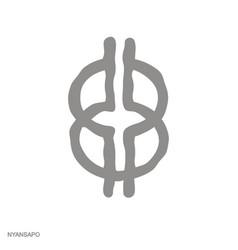Monochrome icon with adinkra symbol nyansapo vector