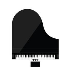 Piano in black color vector