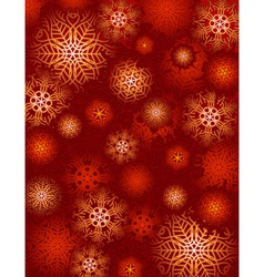 Red background with snowflakes suitable for wrappi vector
