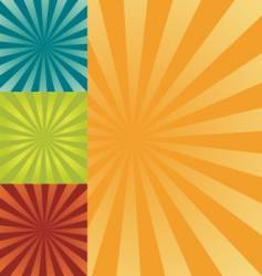retro burst background vector image