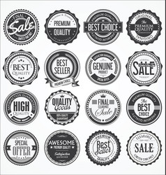 Retro vintage design quality badges collection vector