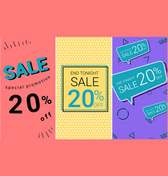sale banner with pastel color banner background vector image