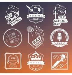 Set logos and Badges Rap Music vector