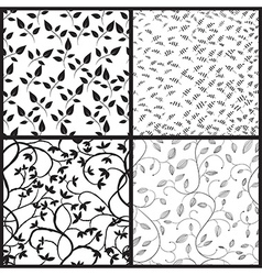 Set of abstract seamless patterns vector