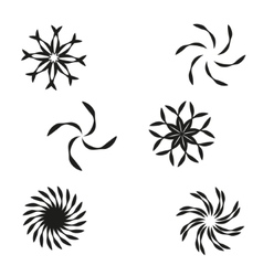 Set of elements for design-spiral flowers vector