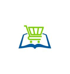 shop book logo icon design vector image